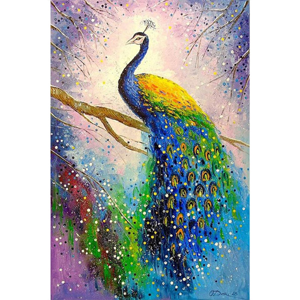 peacock, DIAMOND, Home Decor, Colorful