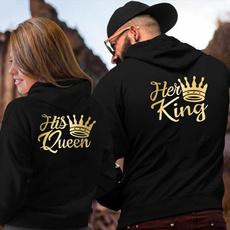 Couple Hoodies, King, Casual Hoodie, hooded