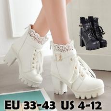 Plus Size, Platform Shoes, Lace, femmesbotte