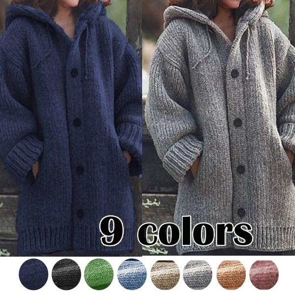 cardigan, Winter, sweater coat, Long Sleeve
