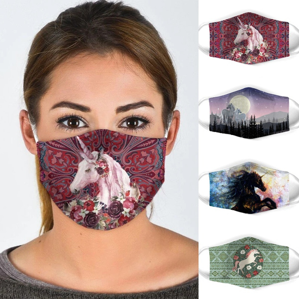 unicornprint, Cotton, mouthmask, isolationmask