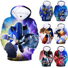 sonicthehedgehoghoodie, 3D hoodies, Pullovers, Hoodies
