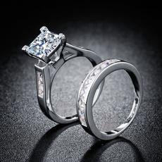 Couple Rings, Sterling, Fashion, Princess