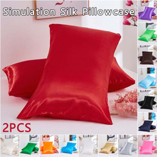 bedpillowcase, case, silk, bedclothe