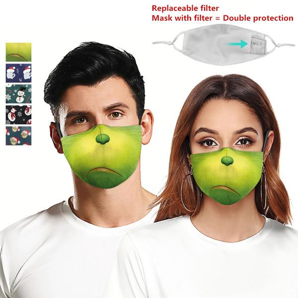 Funny, festivalmask, Christmas, funnyfacemask