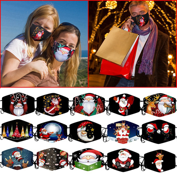 Outdoor, mouthmask, Christmas, printed