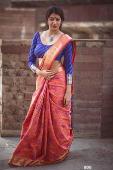 blouse, Fashion, banarasisilk, peach