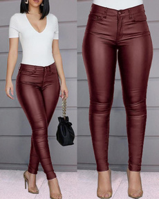 Women Pants, Fashion, skinny pants, leatherpantswomen