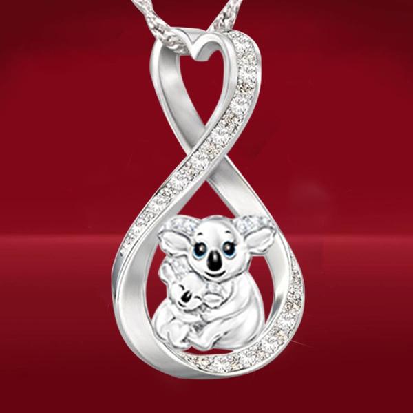 925 sterling silver necklace, Heart, Diamond Necklace, Love