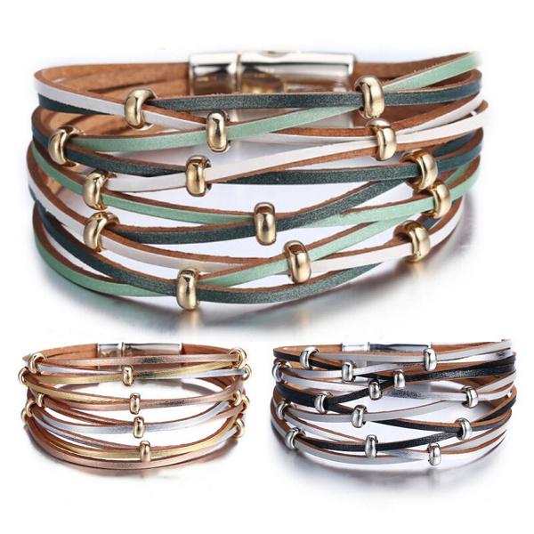 Wristbands, leather, Bracelet, Men
