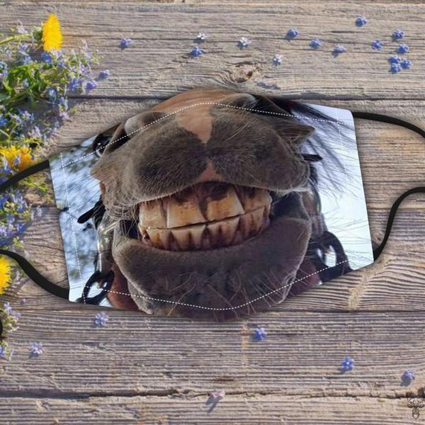 Funny, horse, customlabel0wishstretchtofitmask, Masks