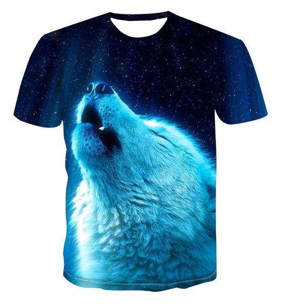 Mens T Shirt, Fashion, Shirt, animalwolf