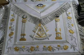 scottishrite, pastmaster, apron, masonicwhiteapron