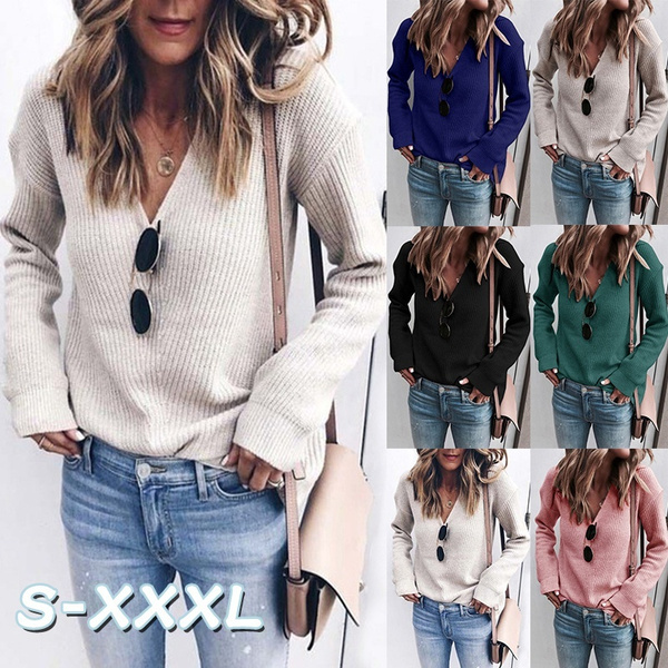 Fashion, knitted sweater, Casual sweater, Tops