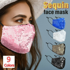 Bling, sequinmask, Shiny, mouthmufflemask