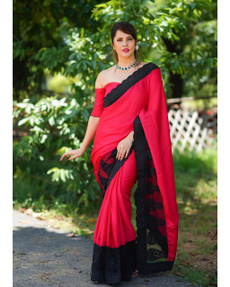 Beautiful, saree, Lace, sareeforwomen