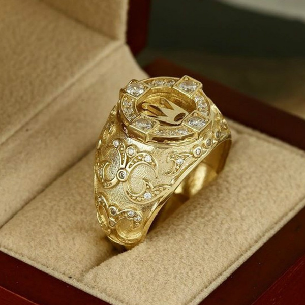Hip Hop, DIAMOND, wedding ring, gold