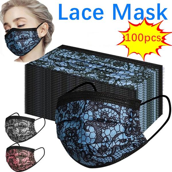 dustproofmask, mouthmask, Lace, Masks