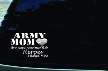 heroe, Car Sticker, armymom, Home Decor