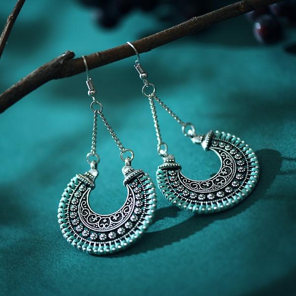 hollowoutthreadingearring, ethnicstyleearring, Jewelry, antiqueearring