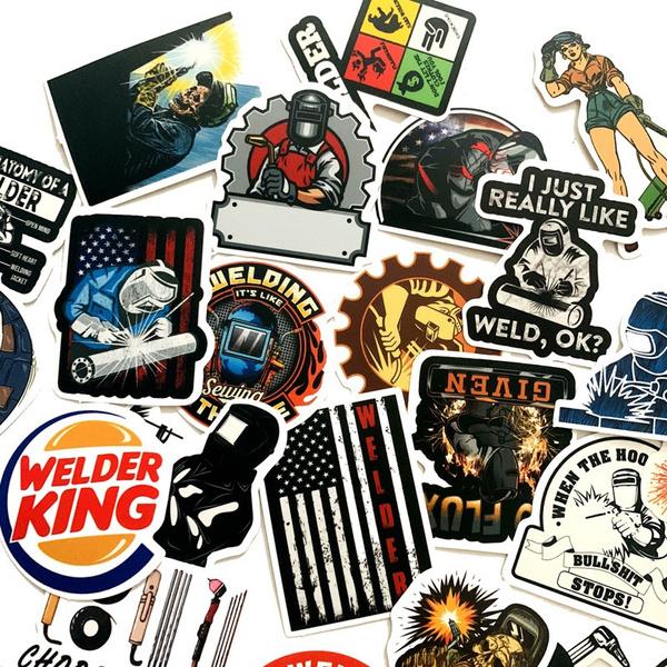 Car Sticker, Laptop, suitcasesticker, weldingworkersticker