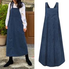 autumnwinter, Plus Size, Vintage dress, dungaree