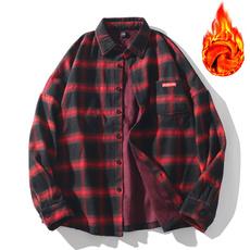 plaid shirt, Fleece, plaid, Shirt