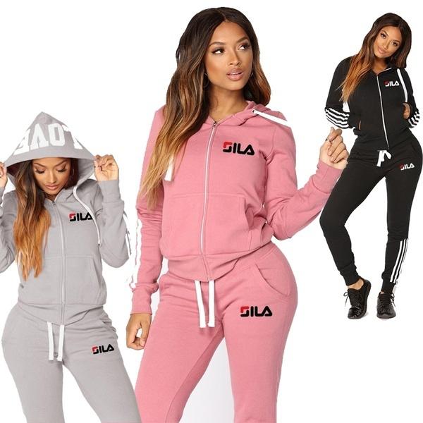 Fashion, women jogging suit, Sleeve, tracksuits sportswear women