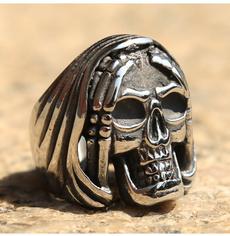 Goth, hip hop jewelry, Men, punk rings