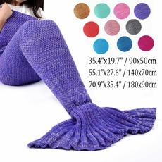 Knitting, sofablanket, mermaidtailblanket, Classics