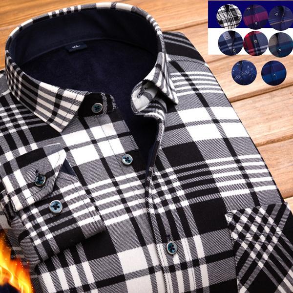 plaid shirt, buttonupshirt, Plus Size, velvet