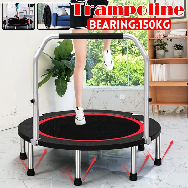 Mini, trampolinewithhandlebar, trampoline, Garden