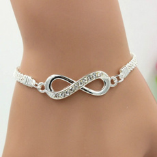Charm Bracelet, Sterling, DIAMOND, Jewelry