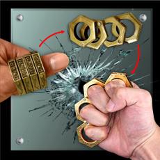 Brass, selfdefensering, Key Chain, escapetool