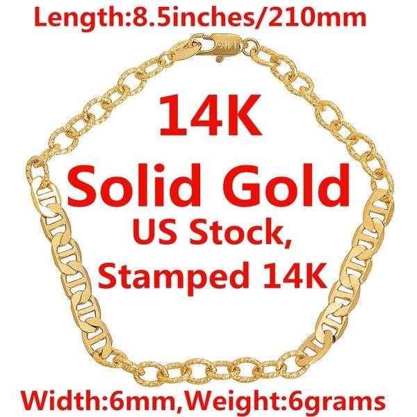 yellow gold, gold bracelet, chianbracelet, gold