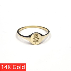 Flowers, wedding ring, Gifts, Silver Ring