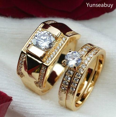 DIAMOND, wedding ring, gold, ringset