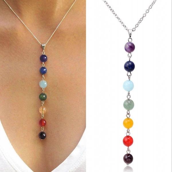 chakranecklace, gemstonenecklace, Jewelry, Gemstone