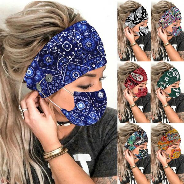headbandandmask, facemaskholder, Head Bands, printedmask