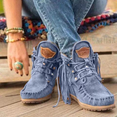 winterbootsforwomen, ankle boots, Tassels, Suede