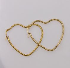 18 k, Heart, Fashion Accessory, Hoop Earring