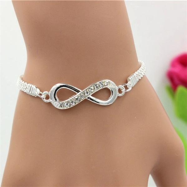 Charm Bracelet, Fashion, Infinity, Chain bracelet