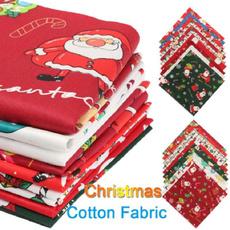 Craft Supplies, Cotton fabric, Christmas, organiccotton