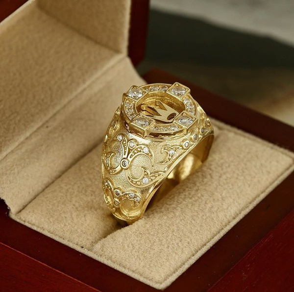 Fashion, wedding ring, gold, crown