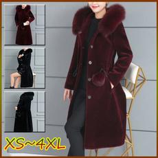 plus, hooded, fur, Sleeve