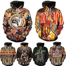hooded, Hoodies, animal print, unisex