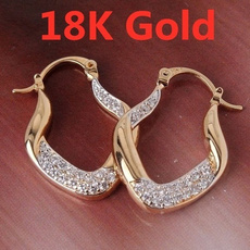 yellow gold, White Gold, sparklingearring, gold