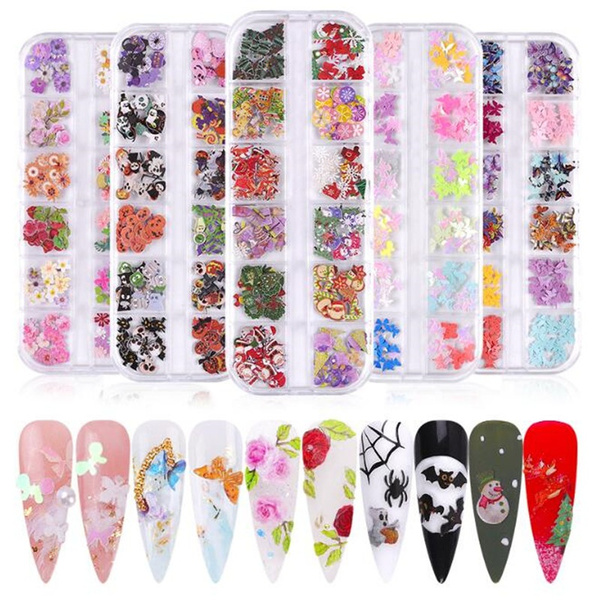 butterfly, nail stickers, Flowers, Christmas