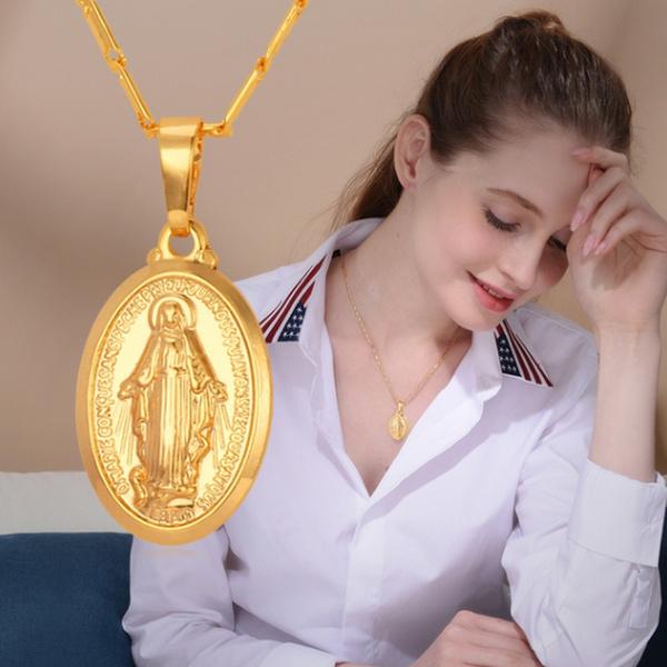 virginmarynecklace, Party Necklace, Exquisite Necklace, punk necklace