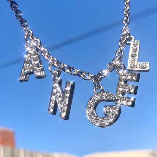 Steel, Stainless, angelnecklace, Fashion